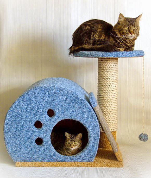 Как сделать дом для кота своими руками