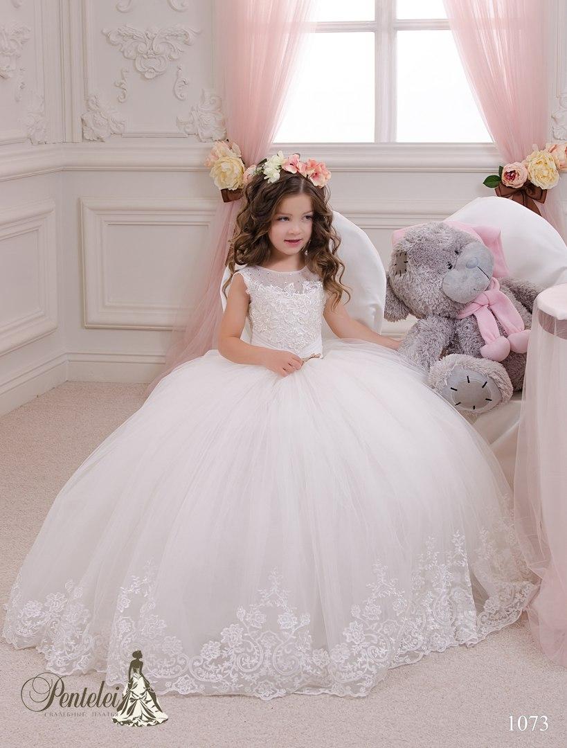 Детские белые новогодние платья для