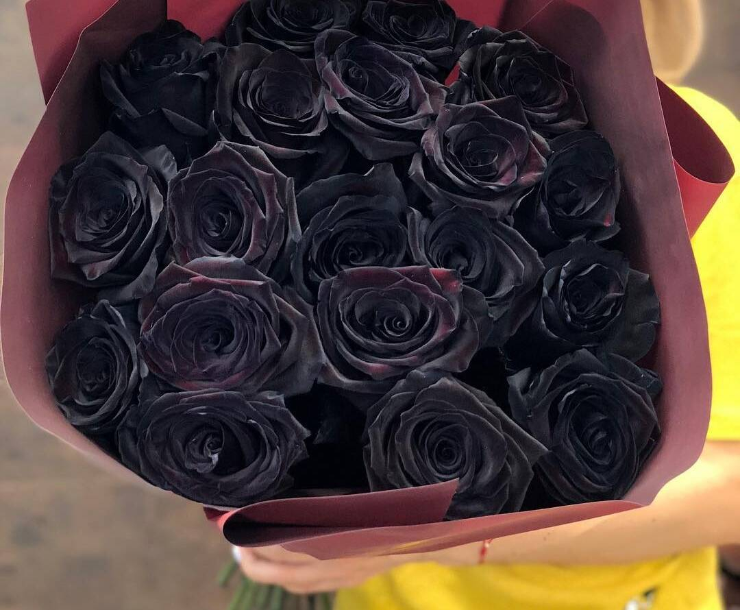Дарят, красивые букеты роз черные