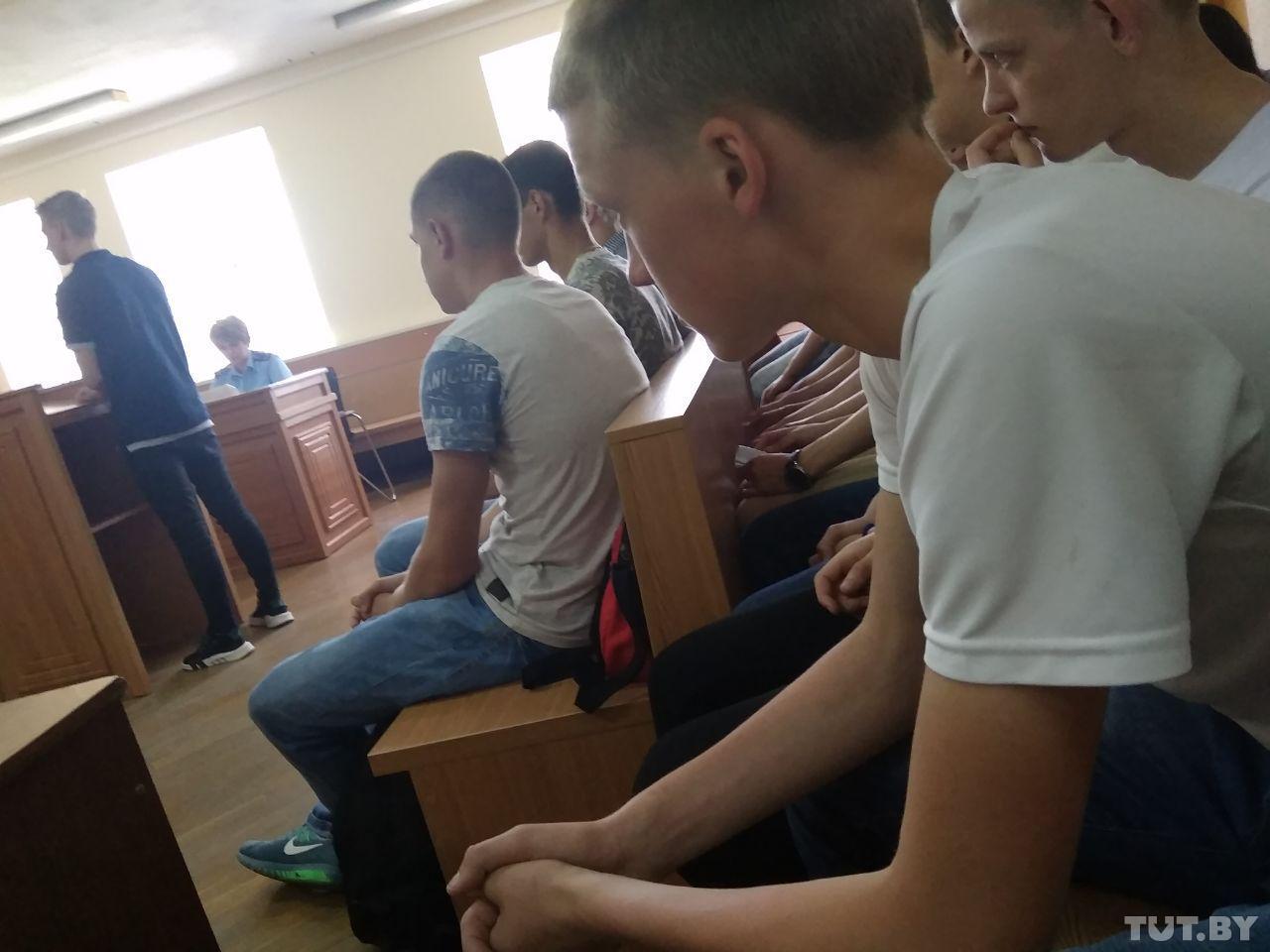 Фото с судебного заседания 5 июня 2019 года. Ольга Комягина, TUT.BY